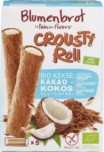 Rulouri crocante cu crema de cocos FARA GLUTEN 125 g 0
