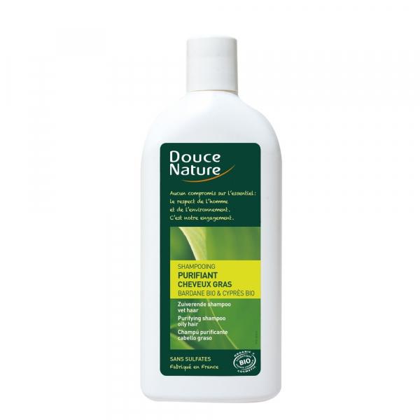 Sampon bio purifiant pentru par gras 300 ml, Douce Nature [0]