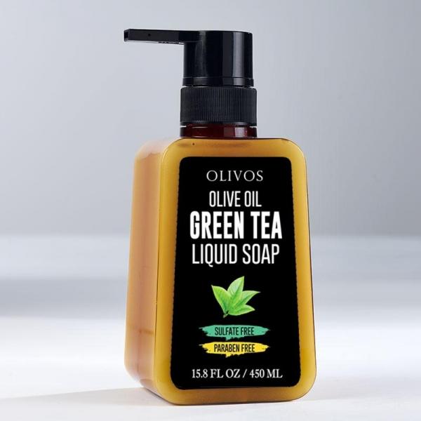 Sapun lichid calmant cu ulei de masline si ceai verde, Olivos, 450 ml 0