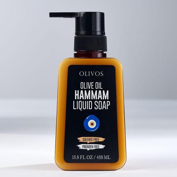 Sapun lichid cu ulei de masline, Hammam - reteta originala Olivos, 450 ml 0