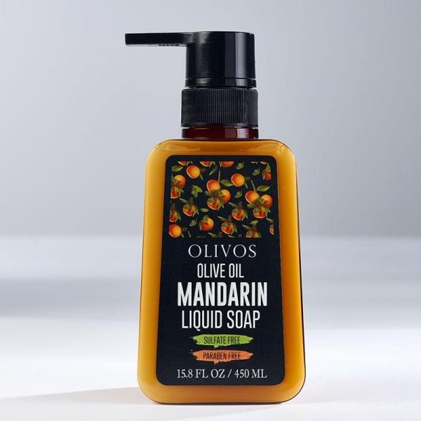 Sapun lichid cu ulei de masline si mandarina, Olivos, 450 ml 0
