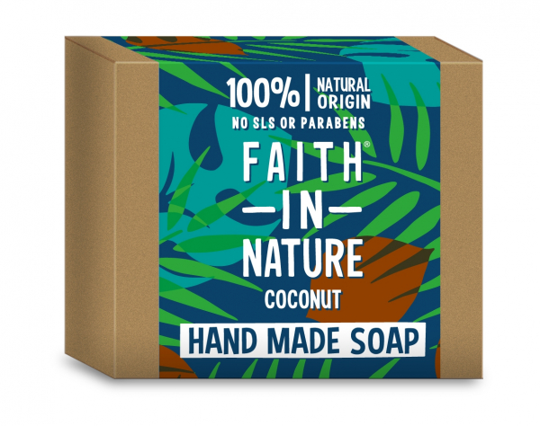Sapun solid cu cocos, Faith in Nature, 100 g 0