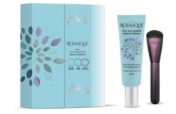 Set cadou Rosalique 3 in 1 Spf 50 + pensula fond de ten  0