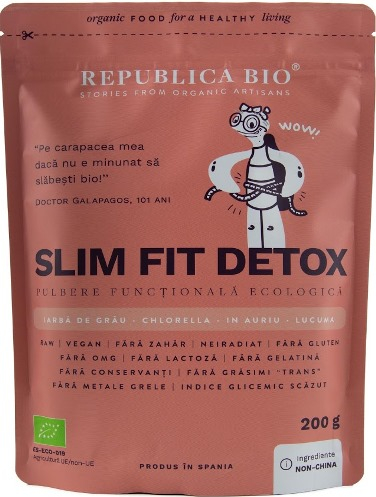 Slim Fit Detox pulbere functionala 200 g 0