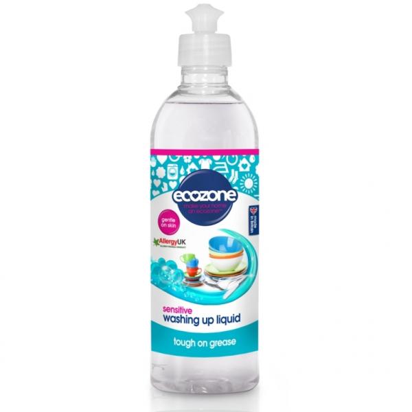 Solutie fara miros, pentru spalat vase/biberoane Sensitive, Ecozone, 500 ml [0]