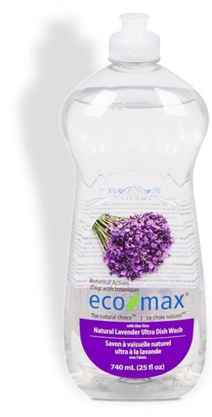 Solutie spalat vase, cu lavanda si aloe vera, Ecomax, 740 ml 0
