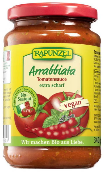 Sos de tomate Arrabbiata VEGAN  340 g 0