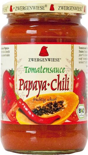 Sos de tomate bio Papaya-Chili 340ml 0