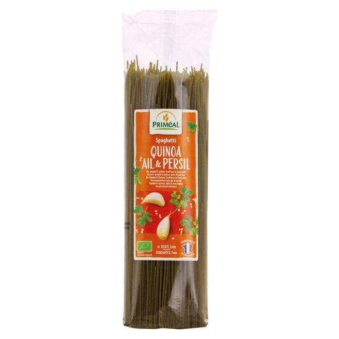 Spaghetti cu quinoa, usturoi si patrunjel 500g 0