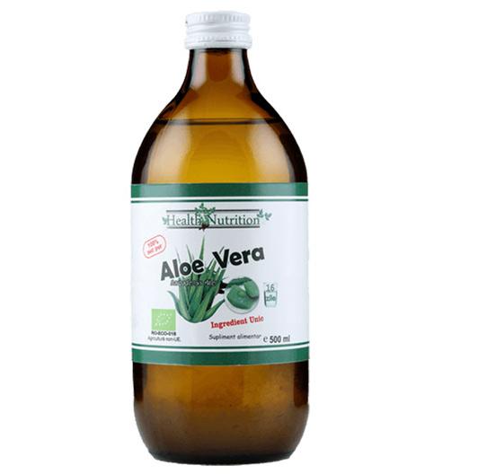 Aloe Vera cu micropulpa 100% pur, 500ml - Bio 0