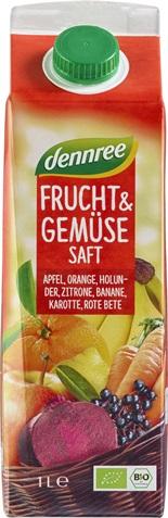 Suc rosu bio de fructe si legume  1L 0