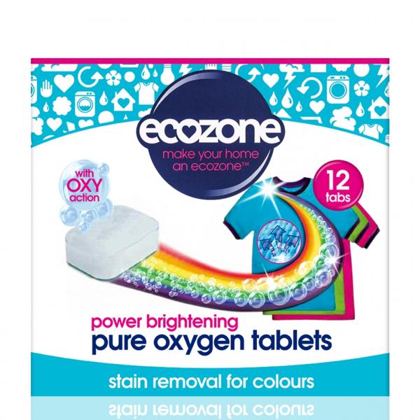 Tablete pe baza de oxigen activ pentru stralucirea hainelor, mentinerea culorii si indepartarea petelor, Ecozone, 12 buc [0]