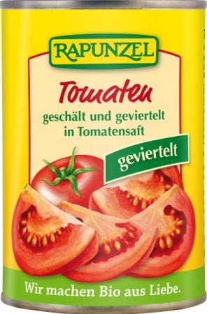 Tomate cojite si taiate in patru in Doza  400 g 0