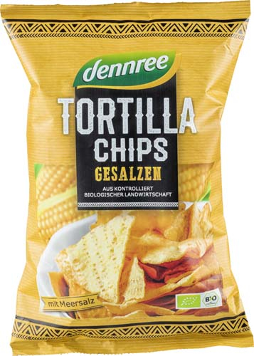 Tortilla chips cu sare eco 125 g 0