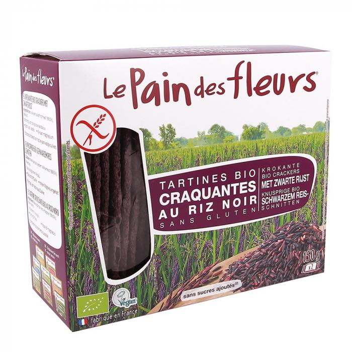 Turte crocante din orez negru -fara gluten 150g 0