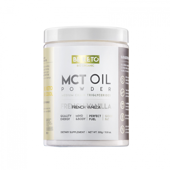 Ulei MCT pudră cu vanilie 300g- Be Keto [0]