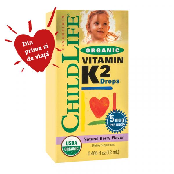 Supliment Vitamina K2 (copii) 15 mcg Childlife Essentials® 12ml  SECOM 0