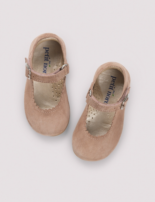 Ballerina Scallop Dusty Rose Suede 0