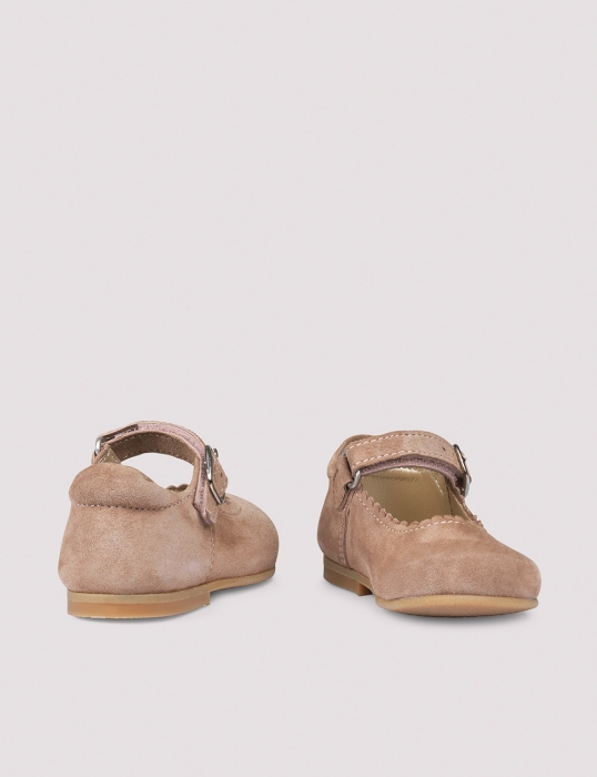 Ballerina Scallop Dusty Rose Suede 2