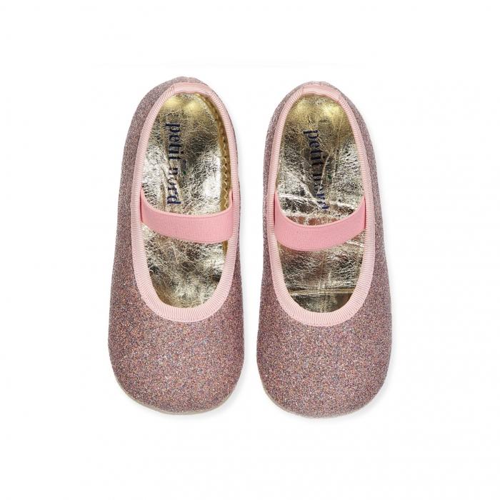 Ballerina Shoe w Elastic Disco 0
