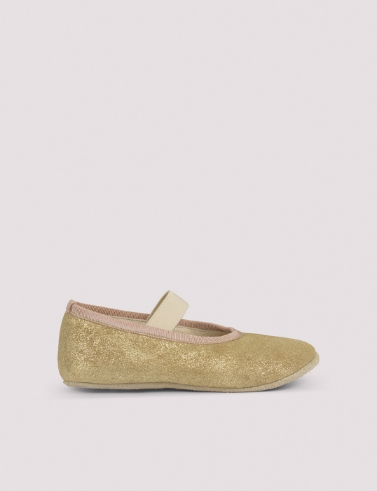 Ballerina Shoe w Elastic Gold Patinated 1