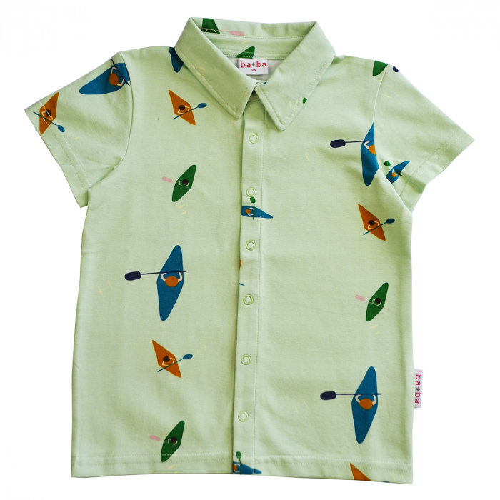 Camasa pentru baieti - Boys shirt short sleeves Kayak river [0]