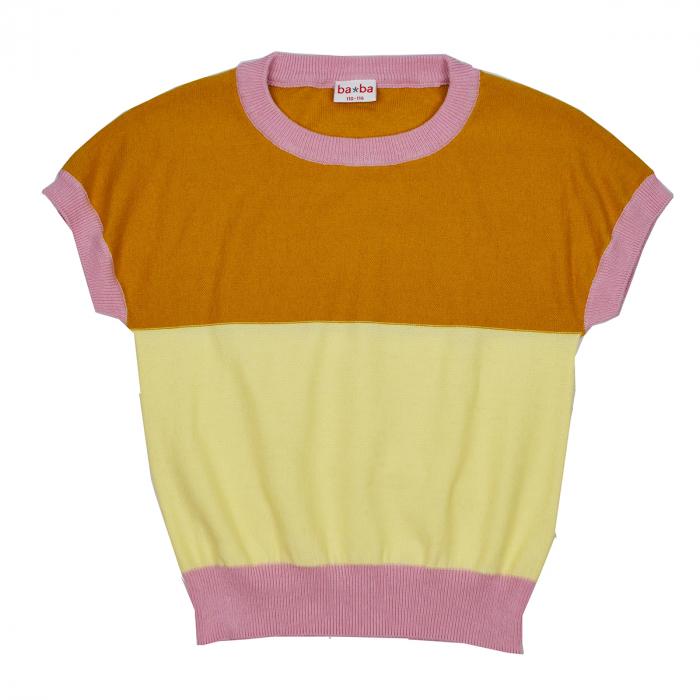 Top cu maneca scurta, tricotat - Brielle knitshirt Chai tea [0]