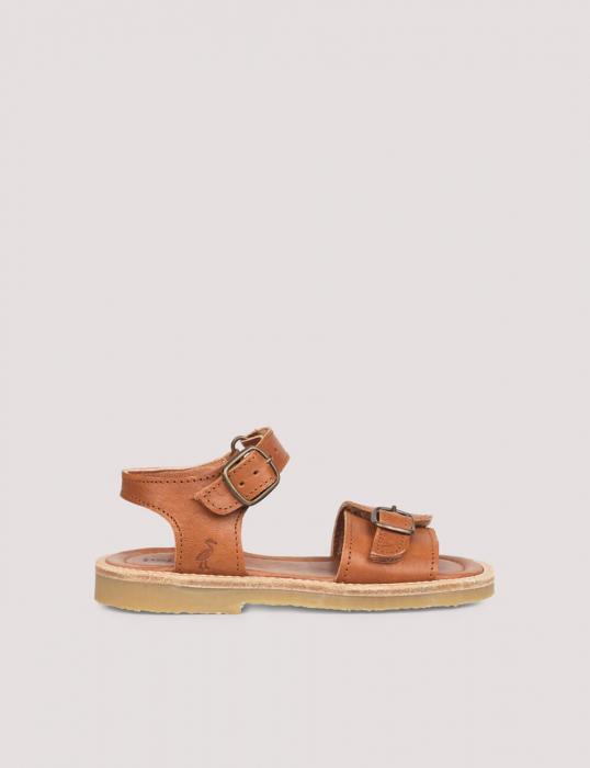 Buckle sandal Cognac 1