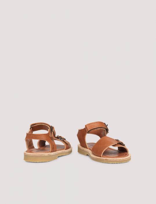 Buckle sandal Cognac 2