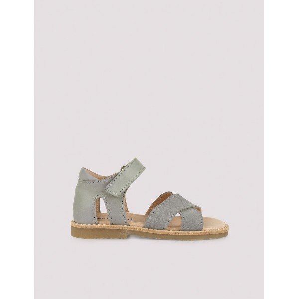 Cross-over sandal concrete green 1