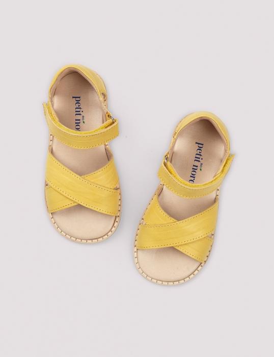 Cross-over sandal limone 0