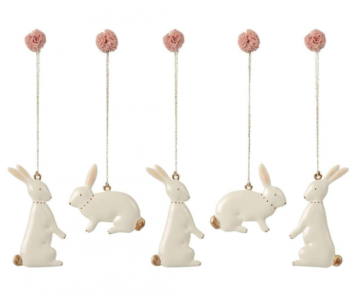 Easter bunny ornaments - 5 pieces 0