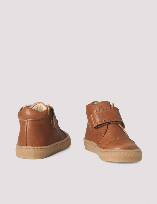 Kicks velcro Cognac 1
