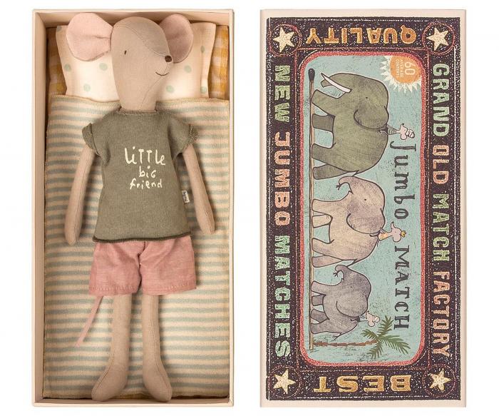 Medium mouse in box - Boy, incl sleep-over set 0
