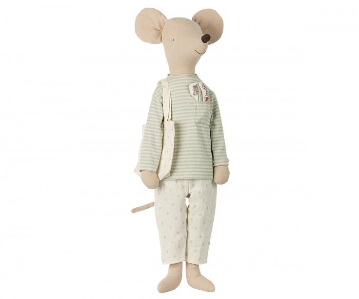 Mega Mouse in nightwear w toothbrush set-Mint 0