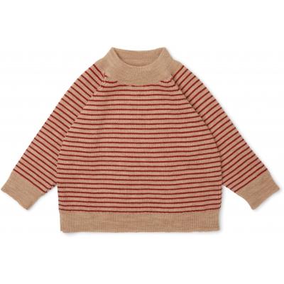 Meo Blouse True Red w Stripe [0]