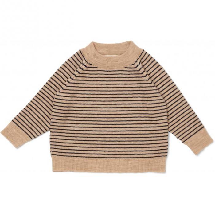 Meo Blouse White Cream/Navy Stripe [0]
