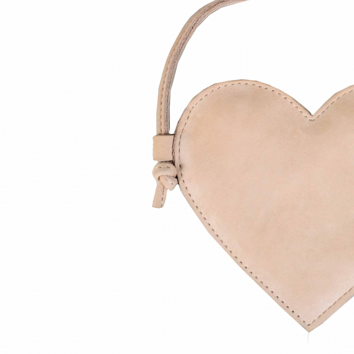 Milo Purse Heart Powder Nubuc 1