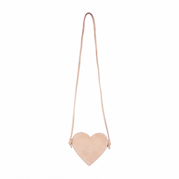 Milo Purse Heart Powder Nubuc 2