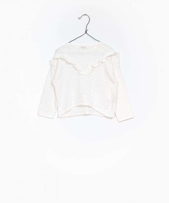 Pulover jerseu bumbac organic alb 0