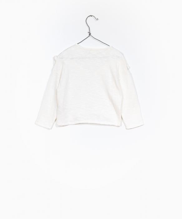 Pulover jerseu bumbac organic alb 1