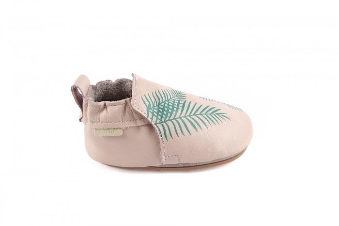 Rio Exotic Leaf pastel pink leather 2