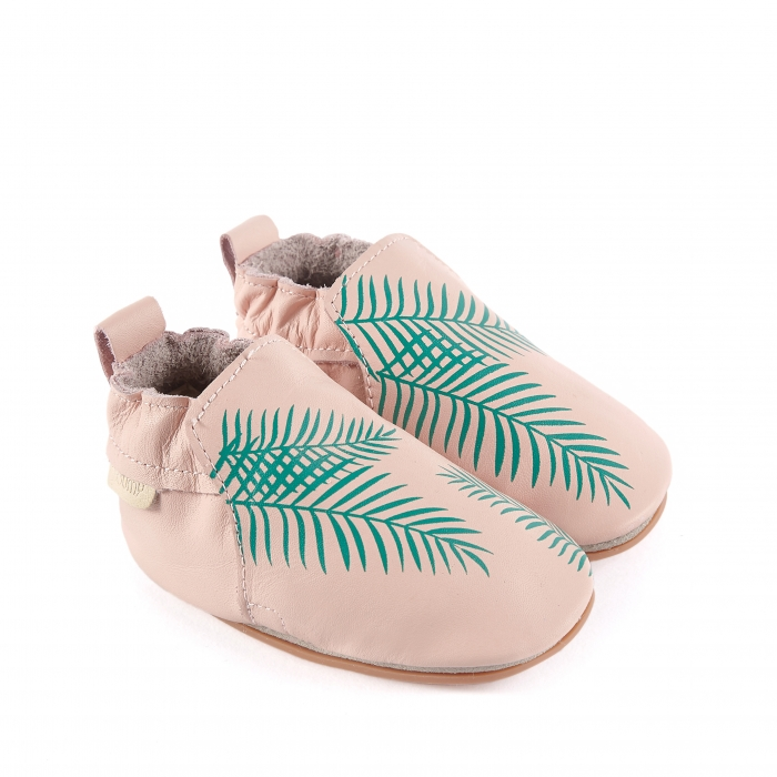 Rio Exotic Leaf pastel pink leather 1
