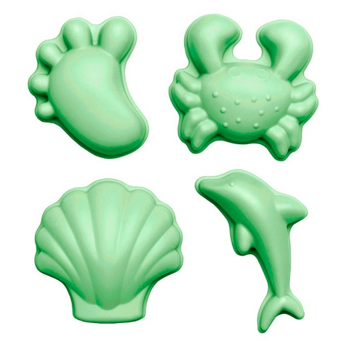 Scrunch moulds set 4 Pastel Green 0