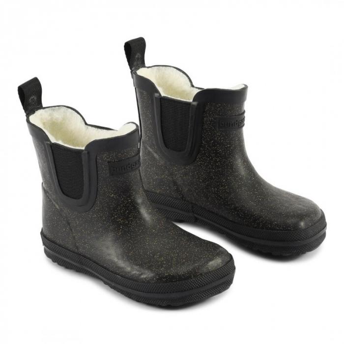 Short warm glitter rubber boot Black sky [0]