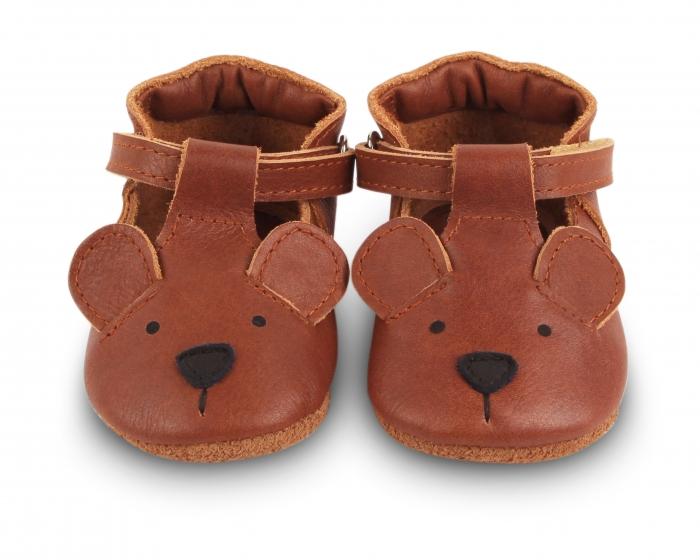 Pantofi din piele naturala, tip barefoot 0