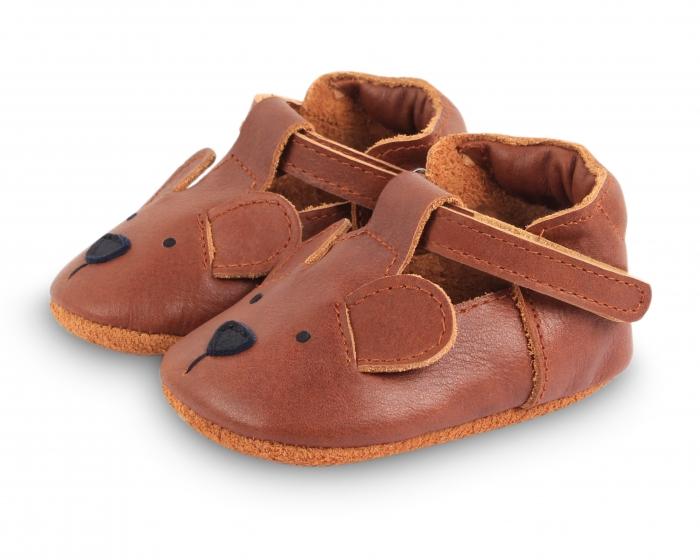 Pantofi din piele naturala, tip barefoot 1