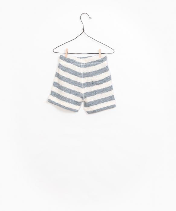 Striped Fleece Shorts [1]