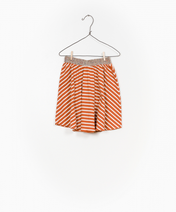 Striped RIB skirt 0