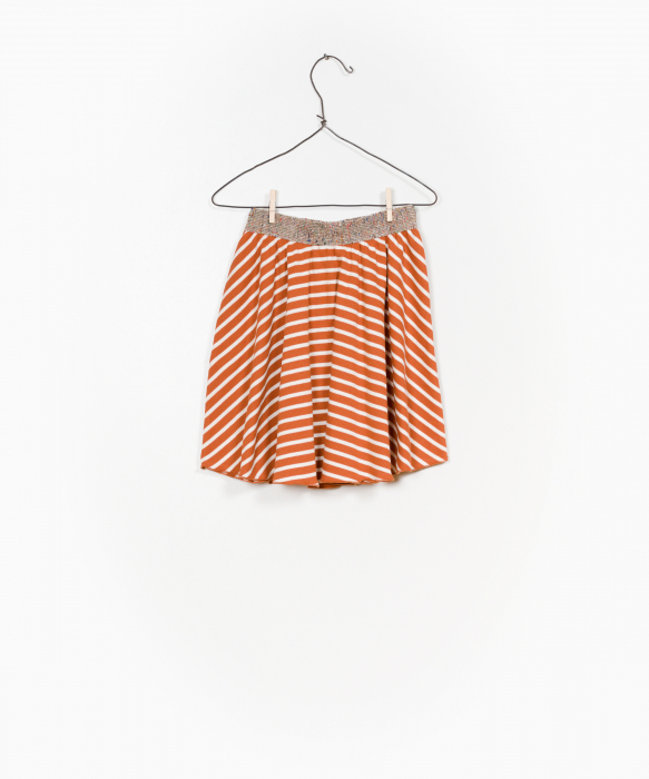 Striped RIB skirt 1